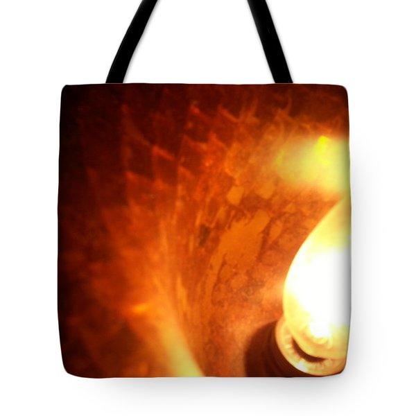 Tiffany Lamp Inside Tote Bag