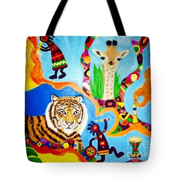 Tiger And Friends Tote Bag