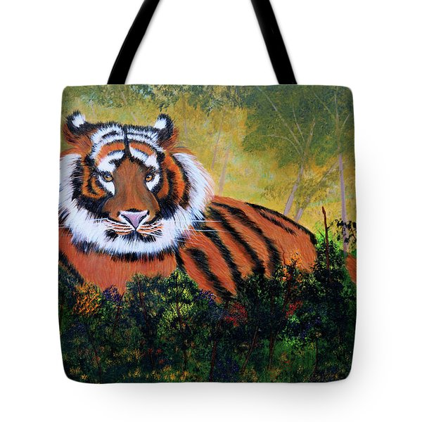 Tiger At Rest Tote Bag