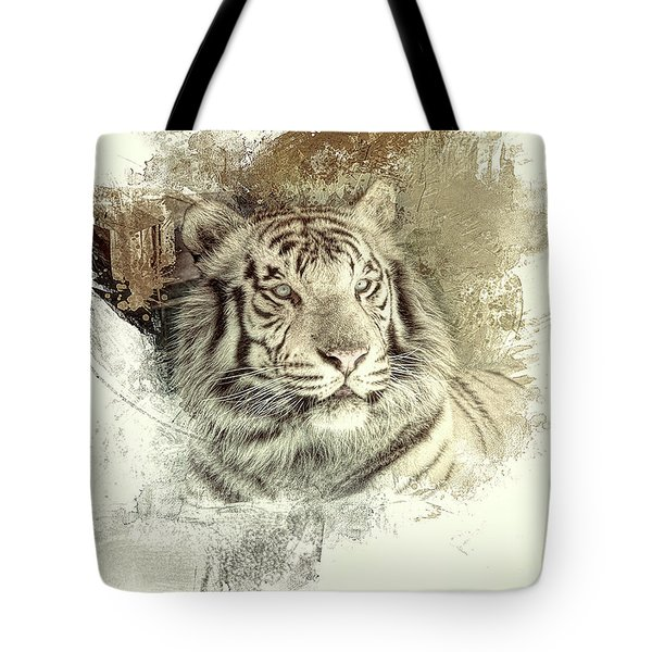Tiger Tote Bag by Clare VanderVeen