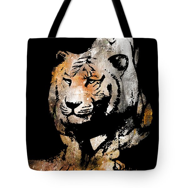 Tiger Collage #6 Tote Bag