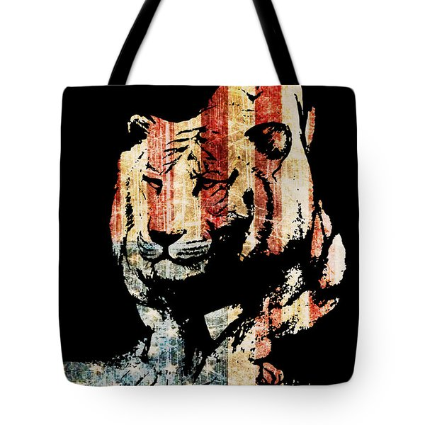 Tiger Collage #9 Tote Bag