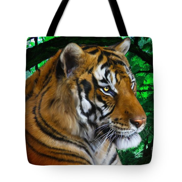 Tiger Contemplation Tote Bag
