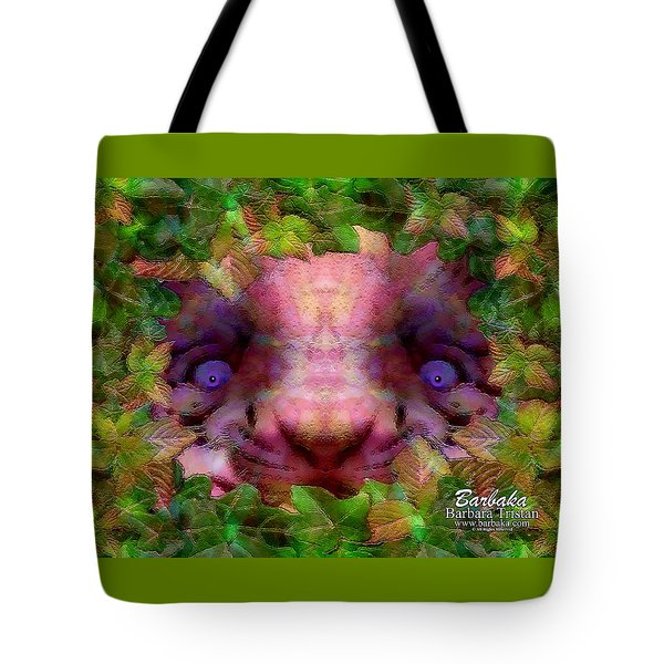 Tote Bag featuring the photograph Tiger Cub by Barbara Tristan