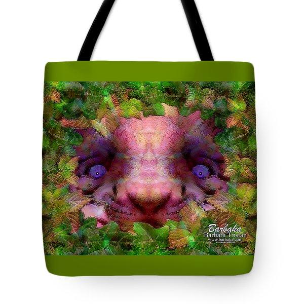 Tiger Cub Tote Bag by Barbara Tristan