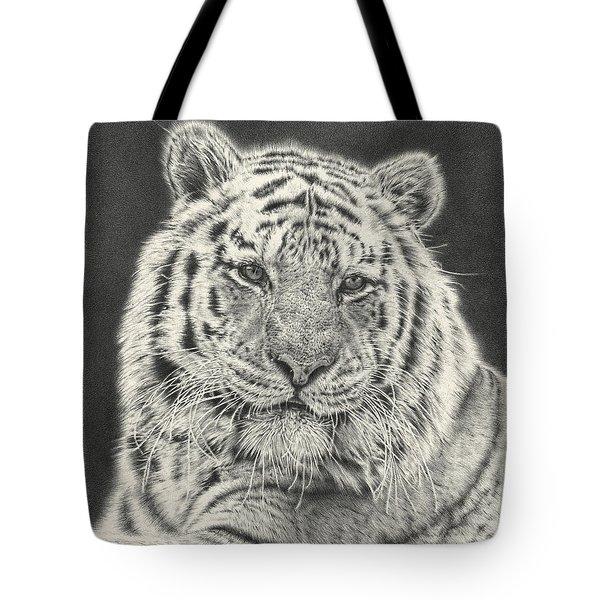 Tiger Drawing Tote Bag