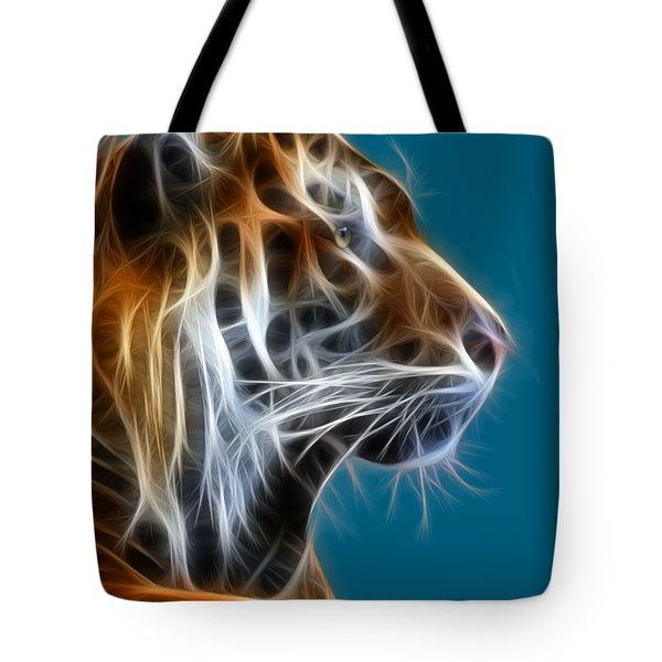 Tiger Fractal 2 Tote Bag