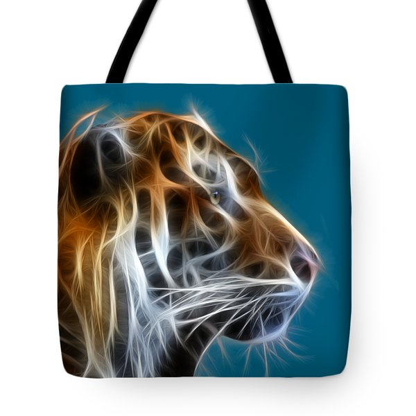 Tiger Fractal 2 Tote Bag