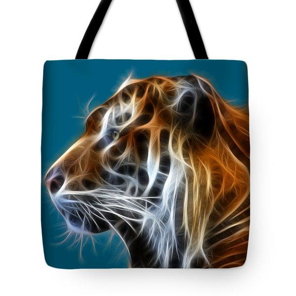 Tiger Fractal Tote Bag