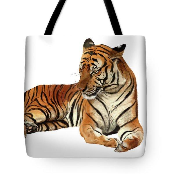 Tiger In Repose Tote Bag