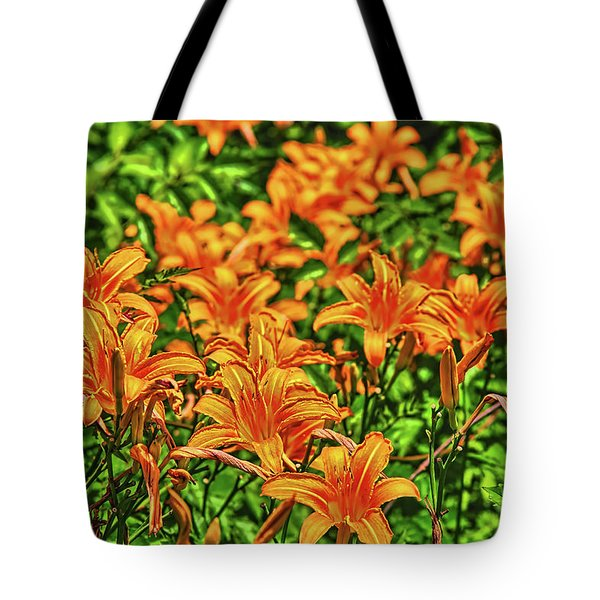 Tiger Lilies Tote Bag by Pat Cook