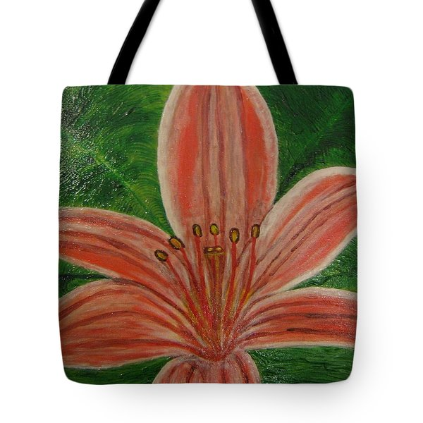 Tote Bag featuring the painting Tiger Lilly by Barbara Yearty