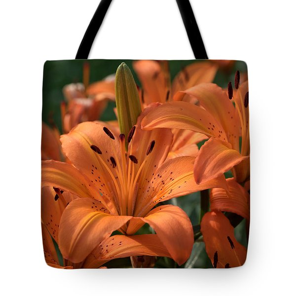 Tiger Lily Blossoms Tote Bag