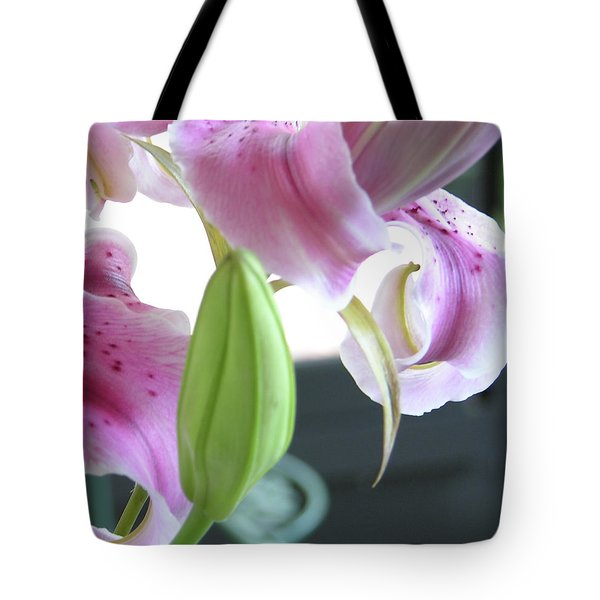 Tiger Lily Bud Tote Bag