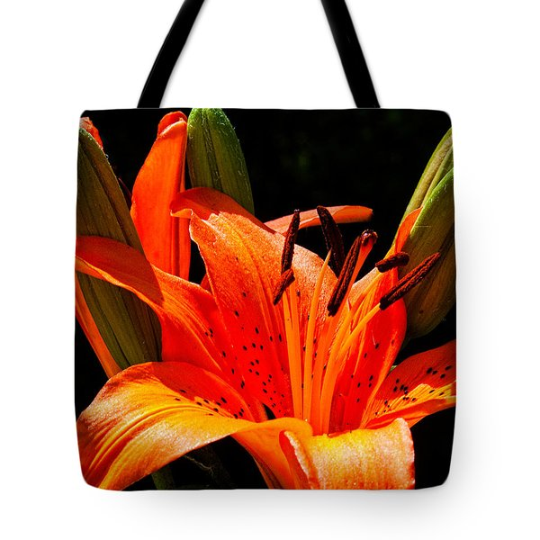 Tiger Lily Tote Bag by Christopher Holmes