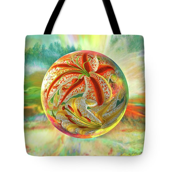 Tote Bag featuring the digital art Tiger Lily Dream by Robin Moline
