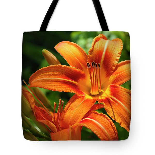 Tiger Lily Explosion Tote Bag