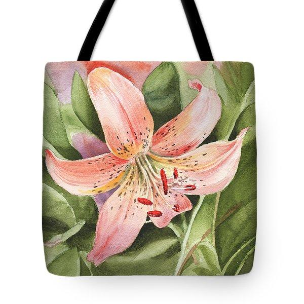 Tiger Lily Watercolor By Irina Sztukowski Tote Bag
