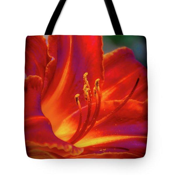 Tiger Lily Tote Bag by Mark Dunton