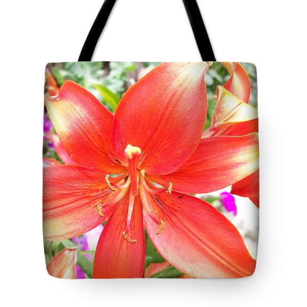 Tote Bag featuring the photograph Tiger Lily by Sharon Duguay
