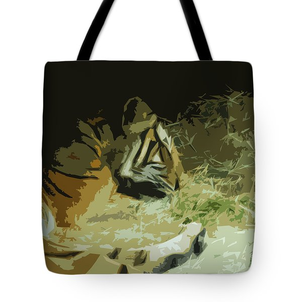 Tote Bag featuring the photograph Tiger by Maggy Marsh