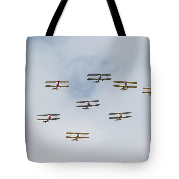 Tote Bag featuring the photograph Tiger Moth Formation by Gary Eason