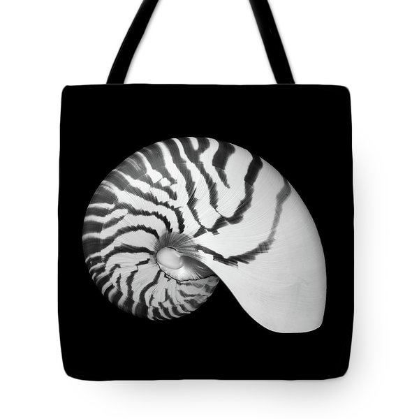 Tiger Nautilus Shell Tote Bag by Jim Hughes