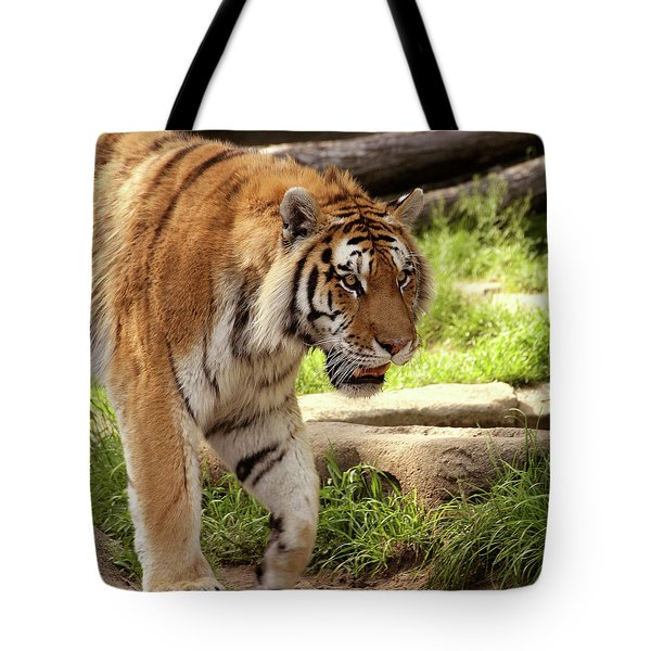 Tiger On The Hunt Tote Bag by Gordon Dean II
