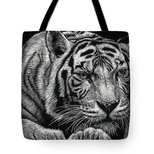 Tiger Pause Tote Bag