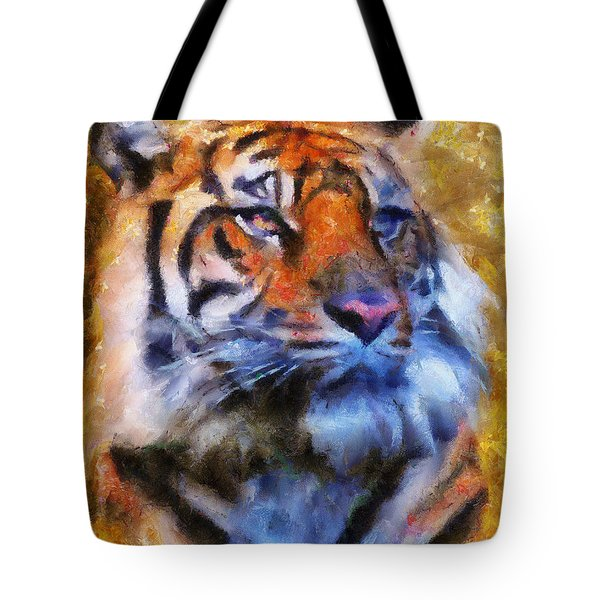 Tiger Portrait Tote Bag by Jai Johnson