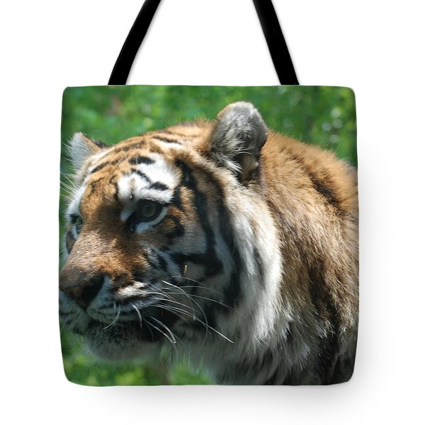 Tote Bag featuring the photograph Tiger Profile by Richard Bryce and Family
