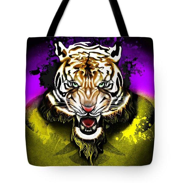 Tiger Rag Tote Bag by AC Williams