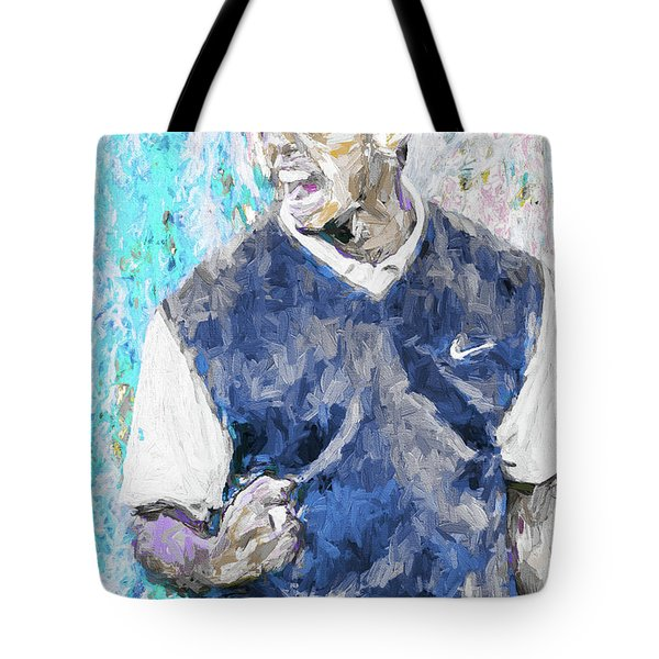 Tote Bag featuring the photograph Tiger Says 2 Painting Digital Golf by David Haskett