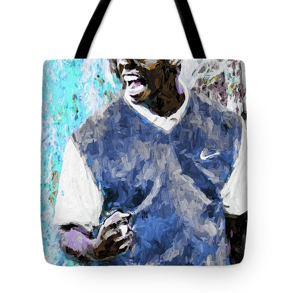 Tote Bag featuring the photograph Tiger Says Digital Painting Golf by David Haskett