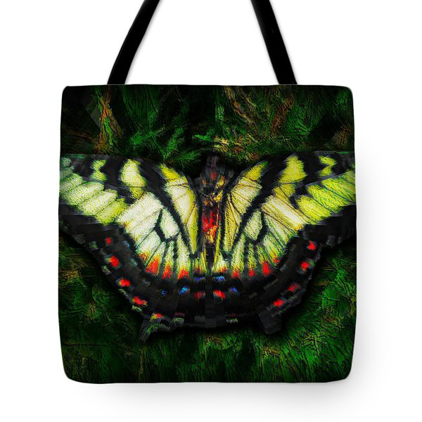 Tiger Swallowtail Tote Bag by Iowan Stone-Flowers