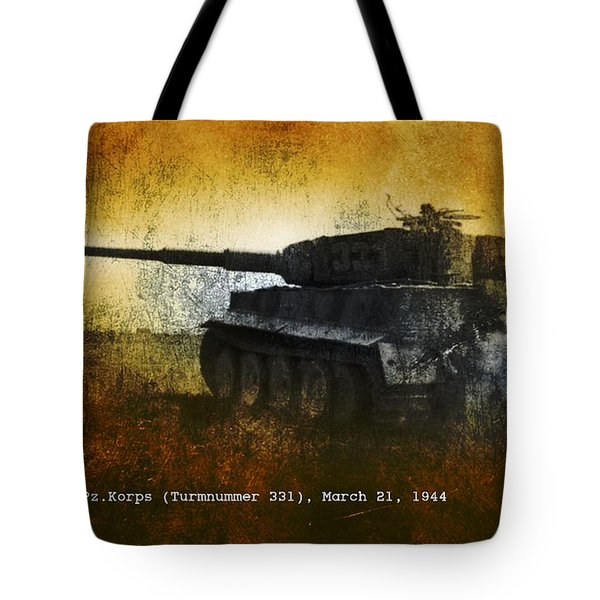 Tiger Tank Tote Bag