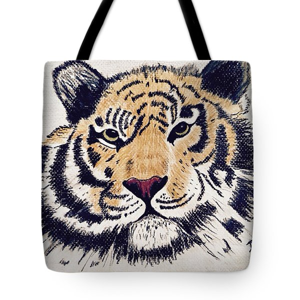 Tiger Tiger Burning Bright Tote Bag