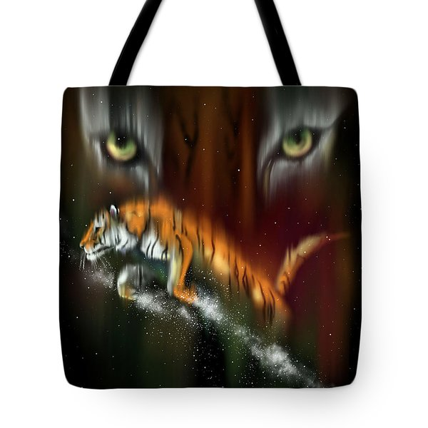 Tiger, Tiger Burning Bright Tote Bag