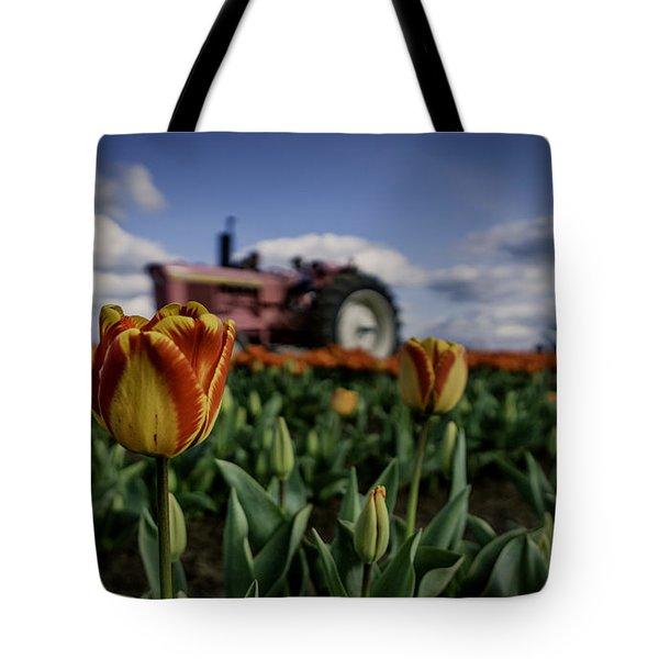 Tiger Tulip Tote Bag