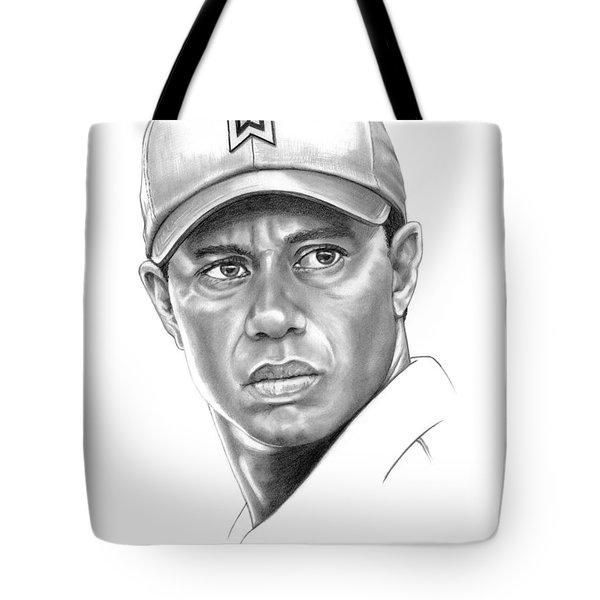 Tiger Woods Tote Bag by Murphy Elliott