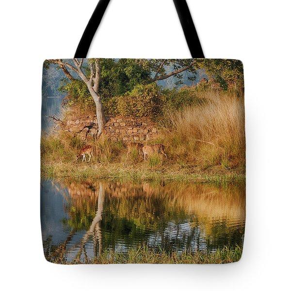 Tigerland Tote Bag by Pravine Chester