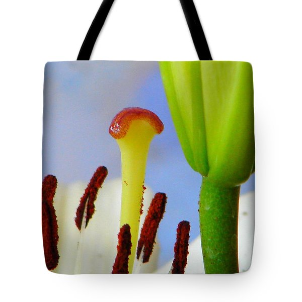 Tote Bag featuring the photograph Tigerlily Close-up by Ana Maria Edulescu
