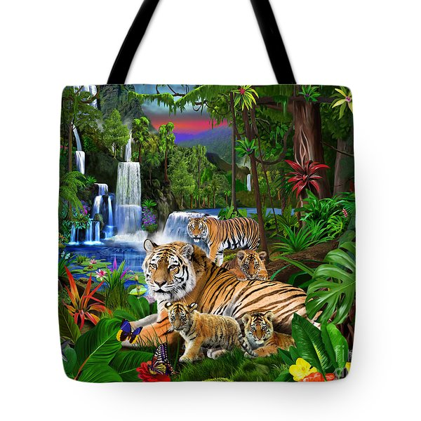 Tigers Of The Forest Tote Bag