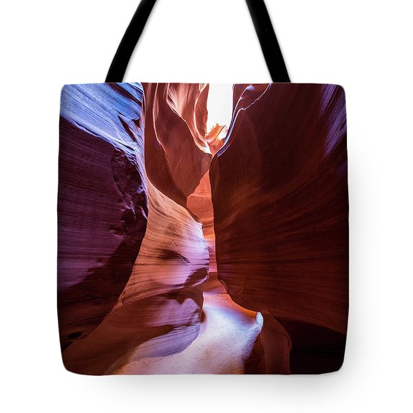 Tote Bag featuring the photograph Tight Squeeze by Stephen Holst