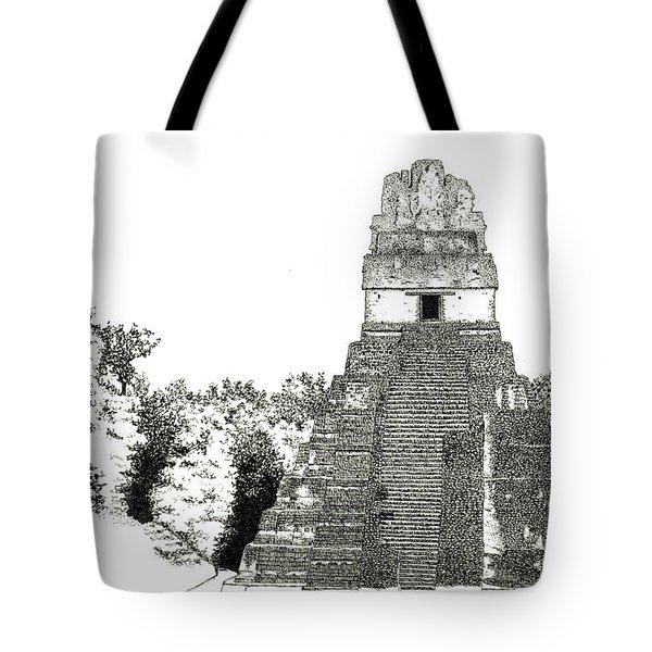 Tikal Temple I Tote Bag