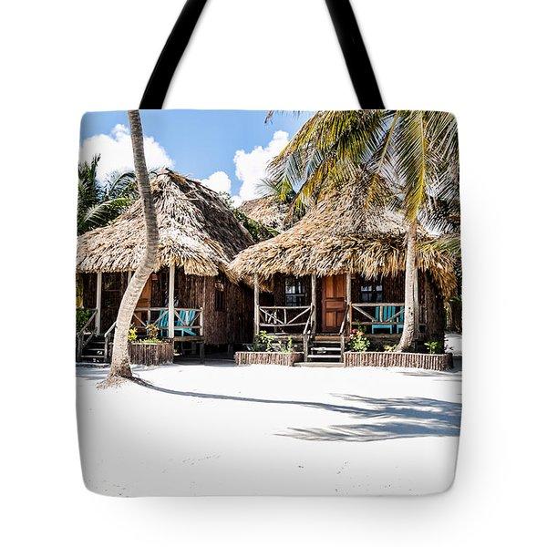 Tiki Huts Tote Bag