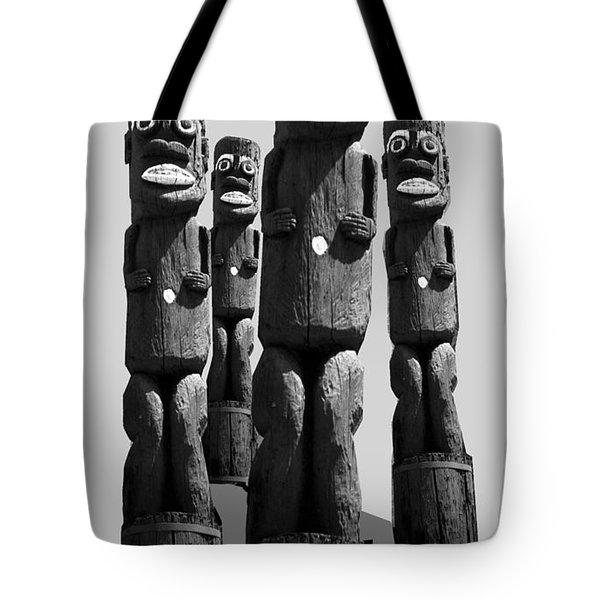 Tiki Invasion Tote Bag