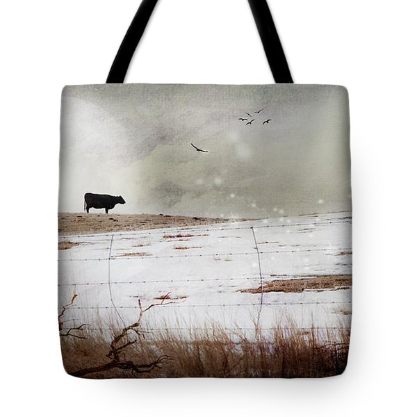 'til The Cows Come Home Tote Bag by Theresa Tahara