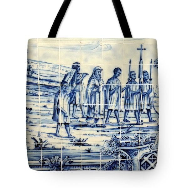 Tile Art Angola Tote Bag
