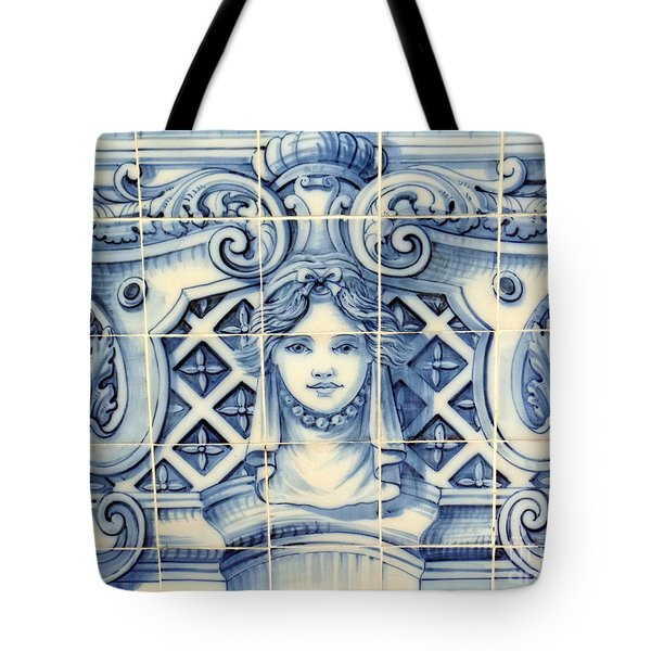 Tile Art In Fort Of Luanda, Angola Tote Bag